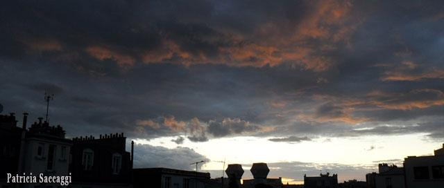 Photo du ciel Bleu rosé