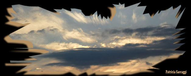 Photo du ciel Noir/doré