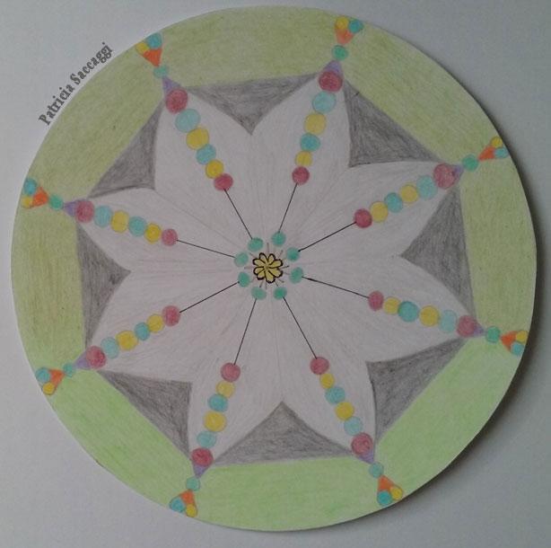 Mandala bonbons en fleur pour citation