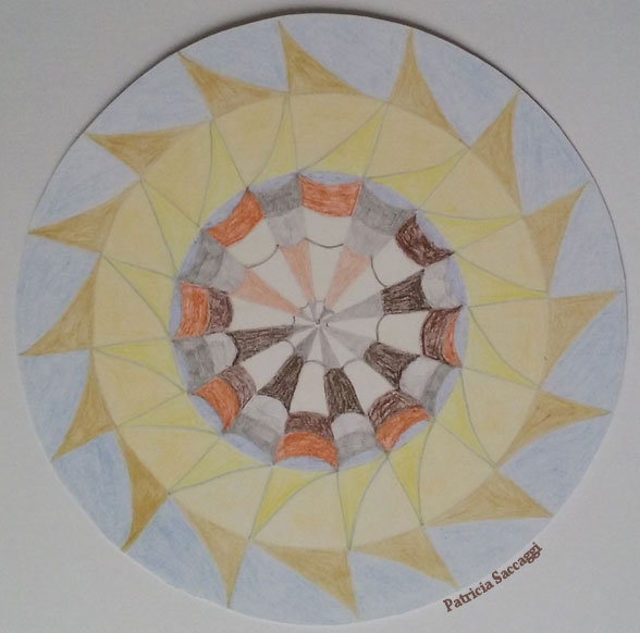 Mandala coquillage solaire pour citation