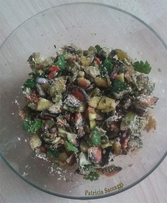 Salade patchwork avec duo de carottes