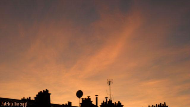Photo du ciel  En feu