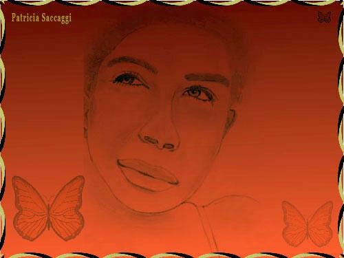 Dessin au crayon et colorisé via Photoshop La rencontre avec une femme