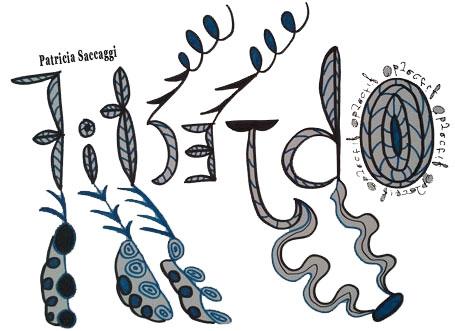 Dessin sur l'écriture spéculaire