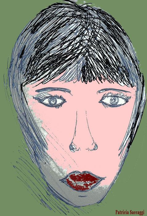 Dessin que j'ai fait au stylo et colorisé via Photoshop La petite tête
