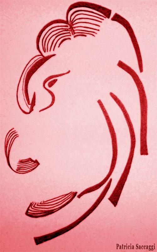 Dessin au stylo et colorisé via photoshop Opérateur casqué