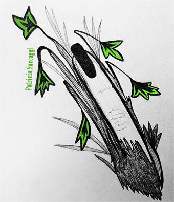 Un doigt fleuri Dessin que j'ai fait au stylo et colorisé via Photoshop