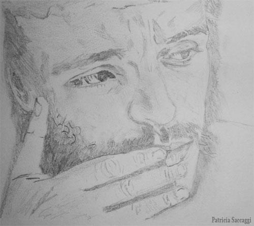 Portrait d'homme Dessin que j'ai fait au crayon à papier
