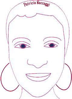 Mon visage fait  avec l'outil plume du logiciel Illustrator.
