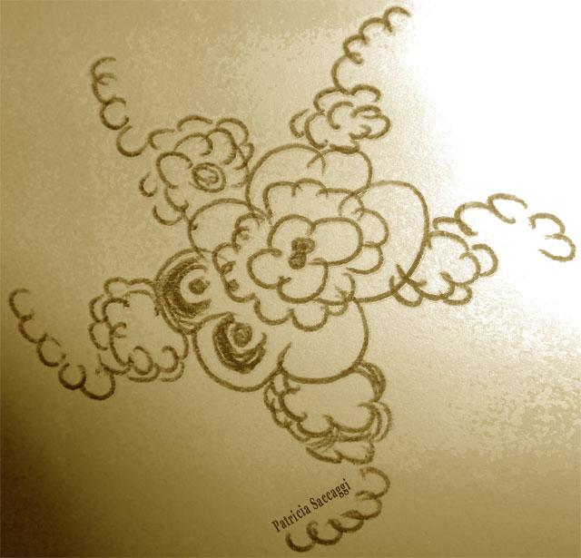 Dessin au stylo et photoshopé en forme de ressorts