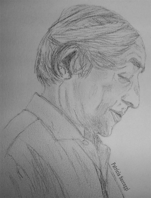 Krishnamurti - le vieil homme Dessin que j'ai fait au crayon à papier