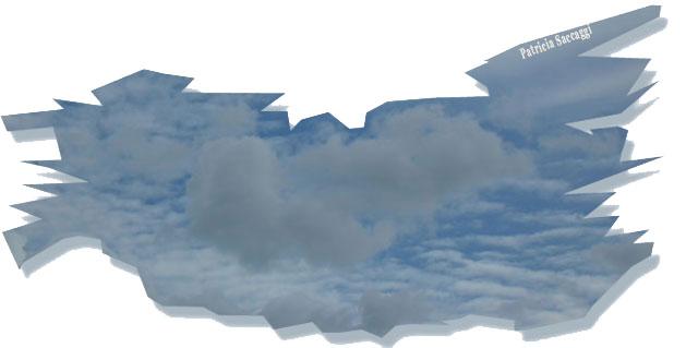 Nuage en 3D sur fond de ciel