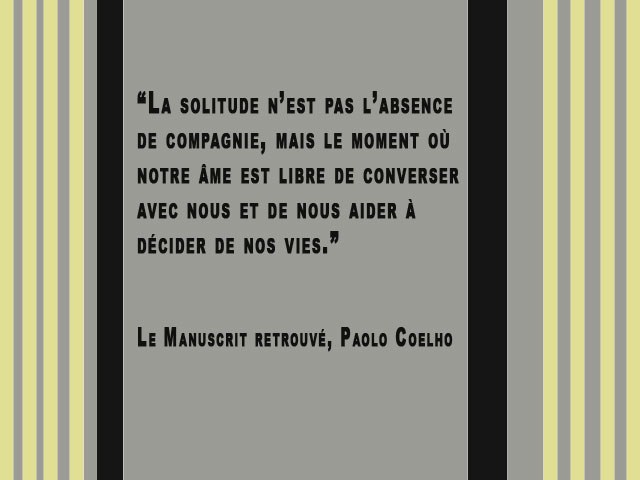 Citation la solitude