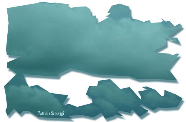 Baleine sur ciel vert