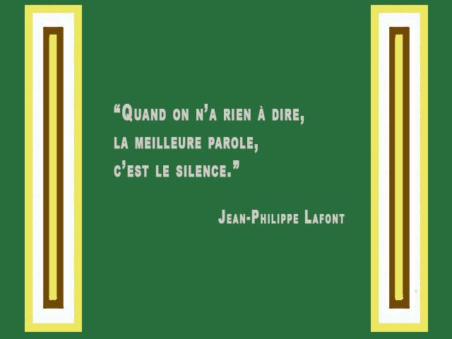 Citation sur le silence et la parole