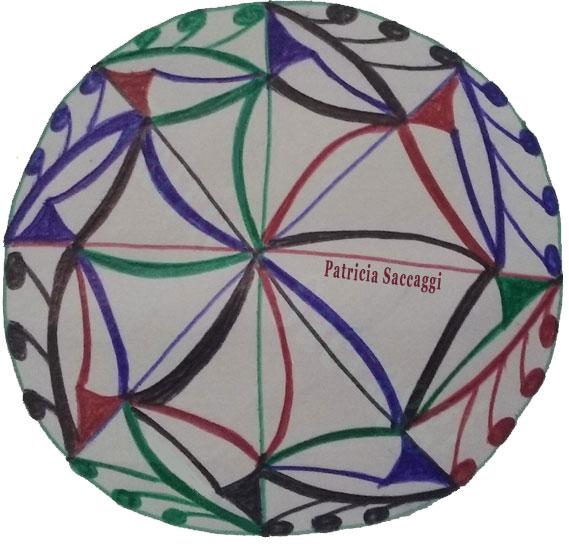 Virgules et courbes se mélangent dessin intuitif mandala