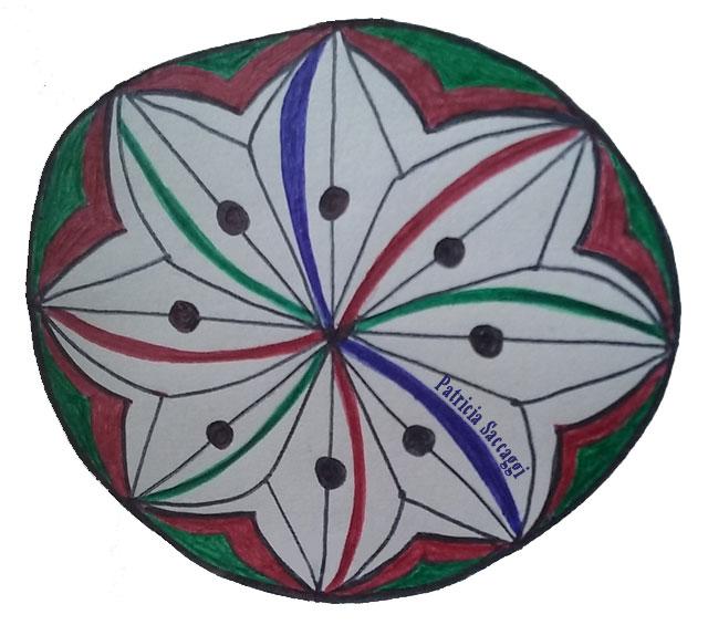 La roue du chapiteau dressé dessin intuitif mandala