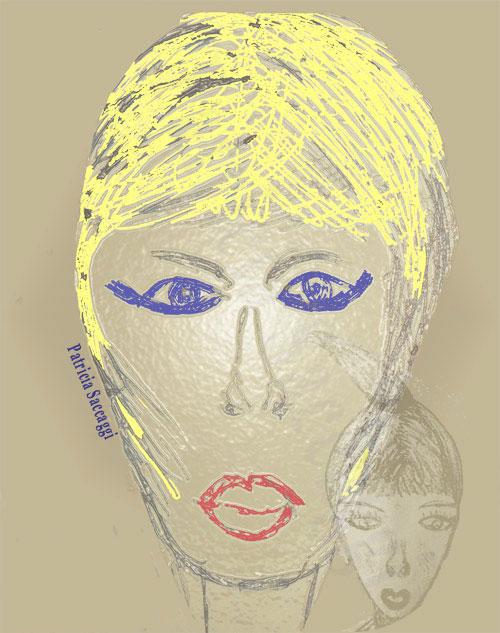 Portrait femme et son enfant intérieur