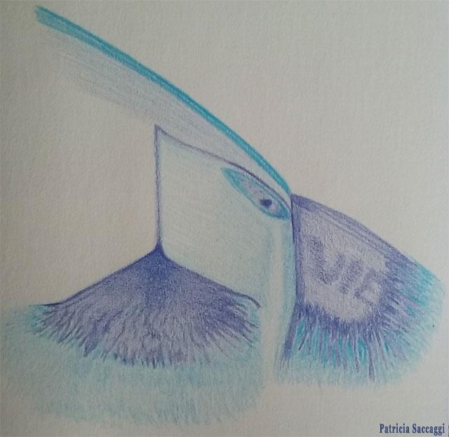 Effilochement de la Terre Dessin improvisé que j'ai fait aux crayons de couleur