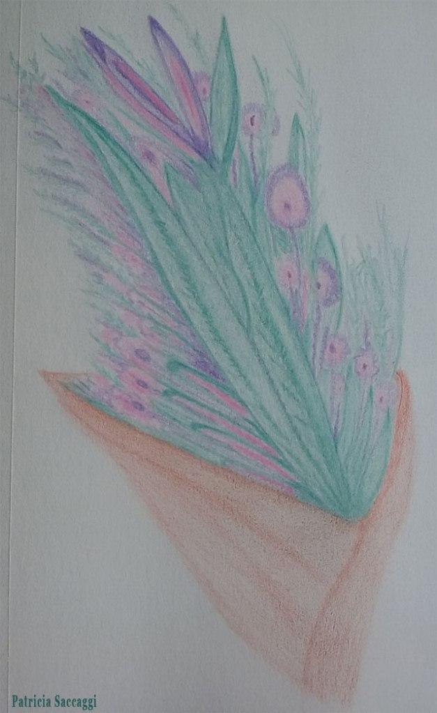 Brassées de vie Dessin improvisé que j'ai fait aux crayons de couleur
