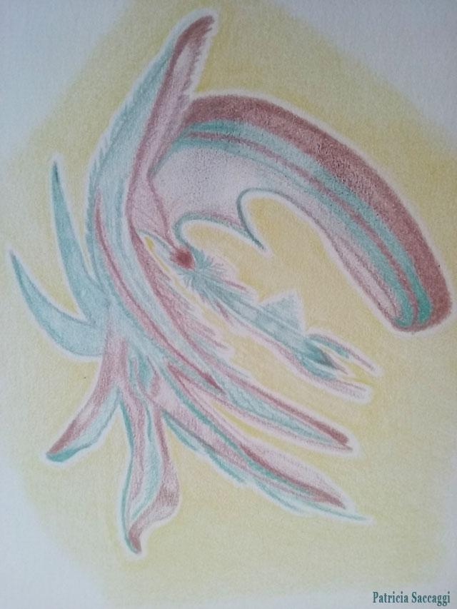 Esprit de la forêt Dessin improvisé que j'ai fait aux crayons de couleur