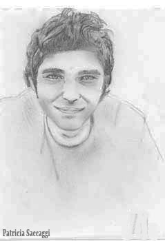 Rencontre d'un homme Dessin que j'ai fait au crayon à papier