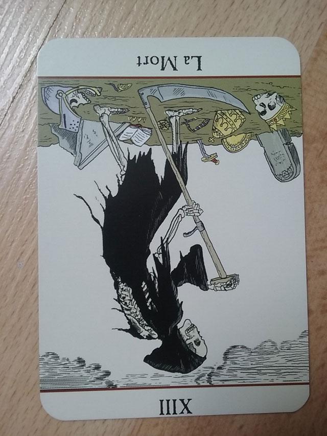 La carte du mort dans le jeu de tarot