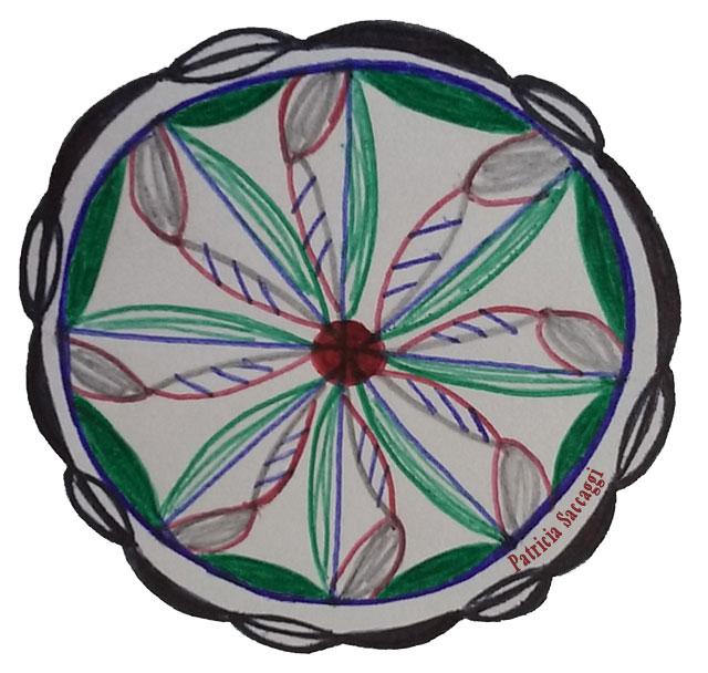 Une roue en simulation de marguerite