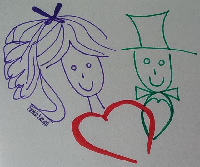 Illustration pour le dialogue sur marié et célibataire
