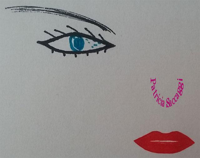 Illustration œil et bouche pour voir et entendre
