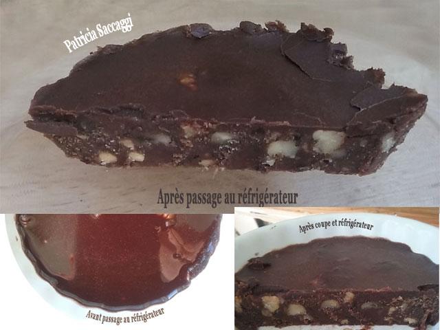Brownie cru que j'ai fait à partir d'une recette trouvée sur le net