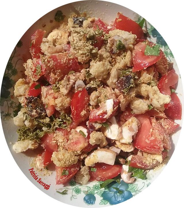 Photo de ma salade pour faire deviner les ingrédients