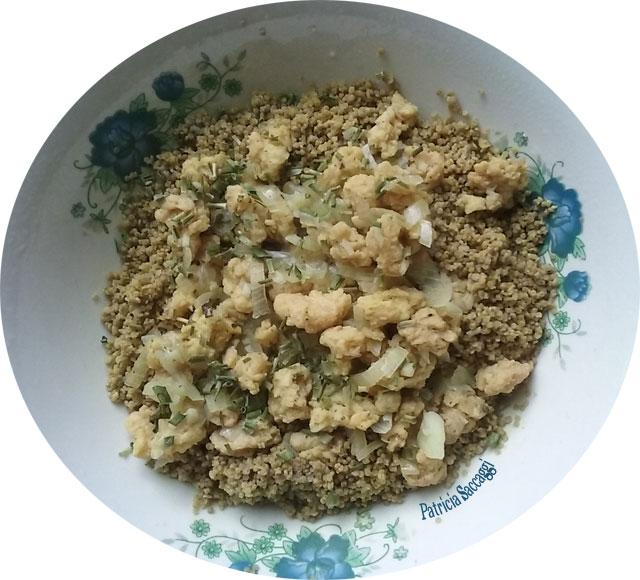 Recette que j'ai faite à base de soja et sarrasin.