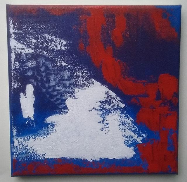 Seconde partie du tableau avec peinture acrylique que j'ai faite sur toile 20*20.