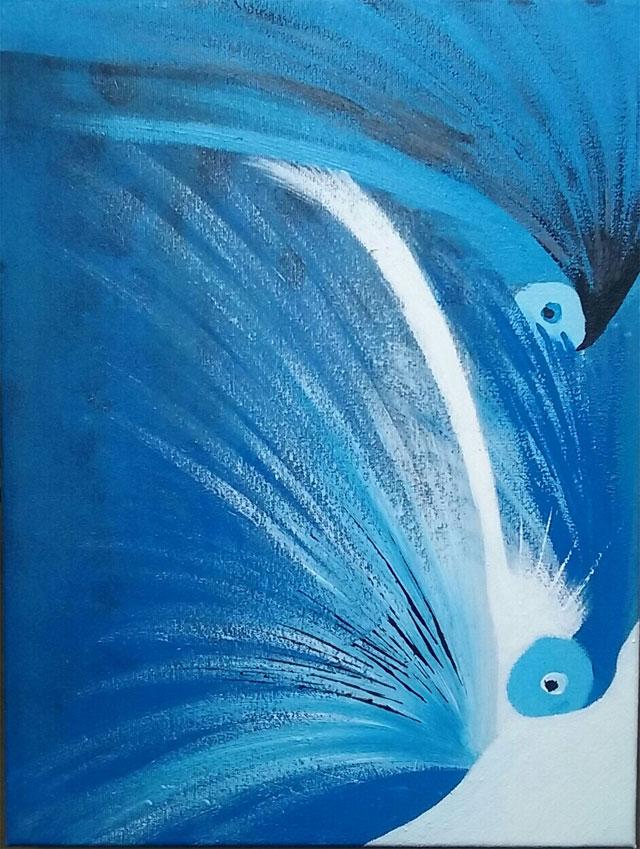 Peinture acrylique que j'ai faite, sur toile 30*40.