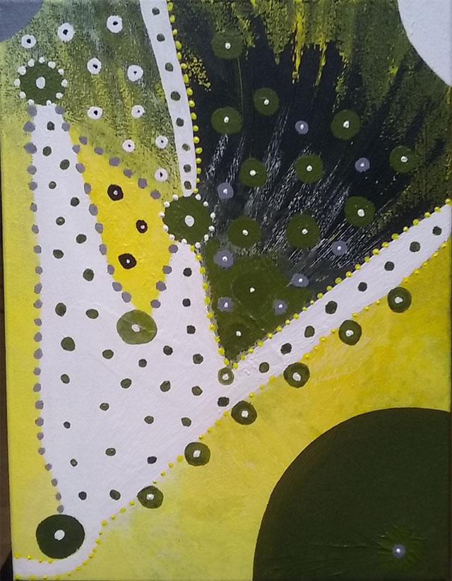 Peinture acrylique que j'ai faite sur toile 30*40.
