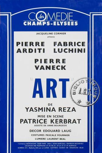 Image de la pièce de théâtre Art de yasmina Reza.