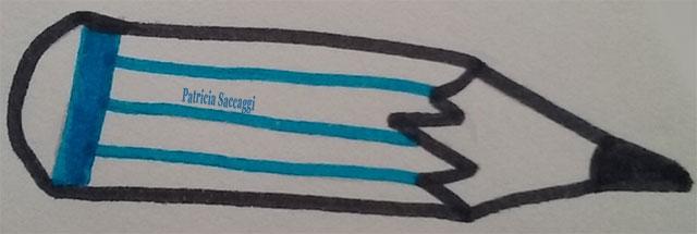 Esquisse de crayon, que j'ai faite, pour l'onglet dessin de mon blog.
