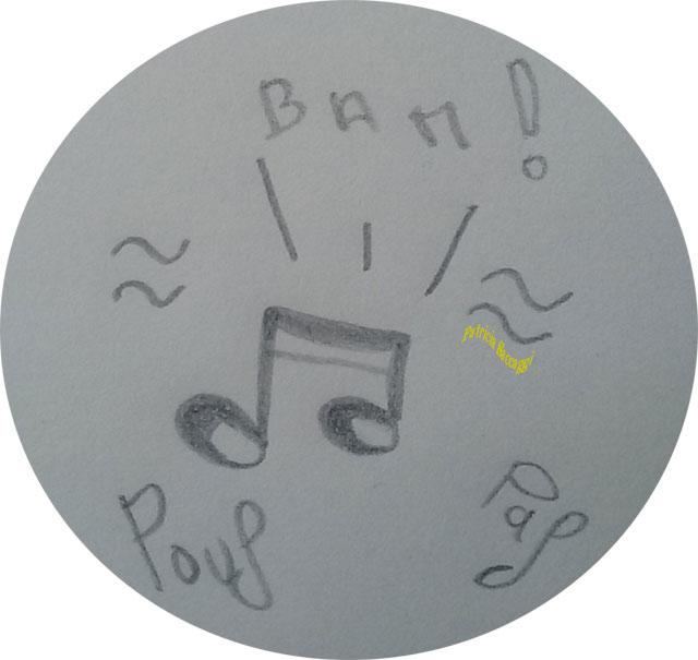Esquisse que j'ai faite pour illustrer mon chant.