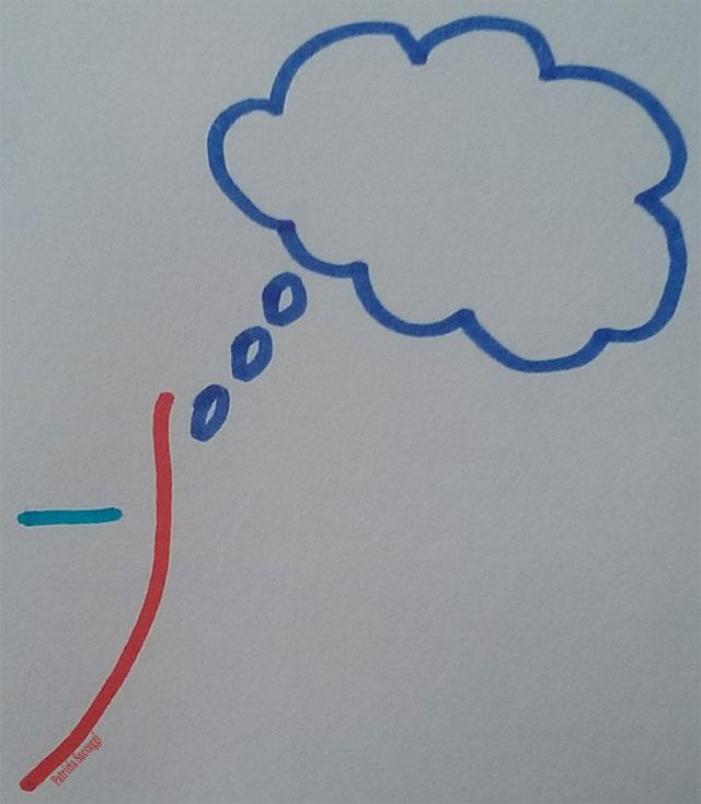 Esquisse que j'ai faite pour illustrer l'onglet pensées de mon blog.