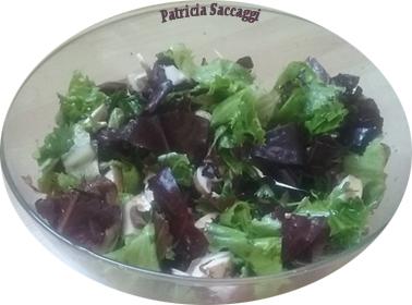 Salade de mesclun et Champignons
