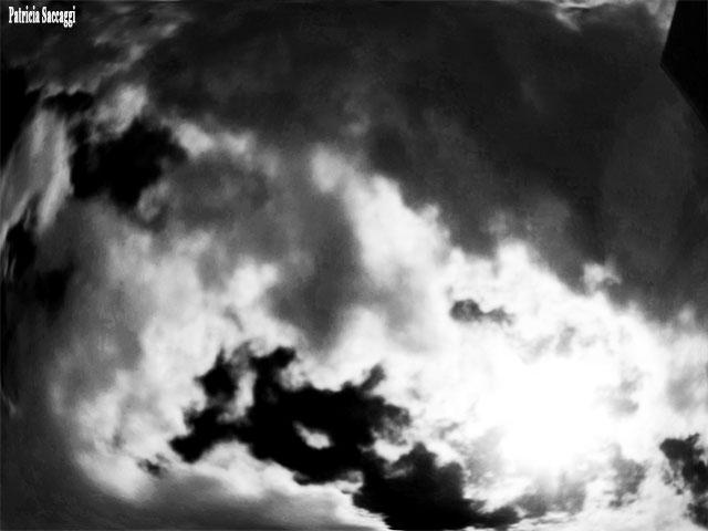 Photo, que j'ai prise, du ciel. Paréidolie.