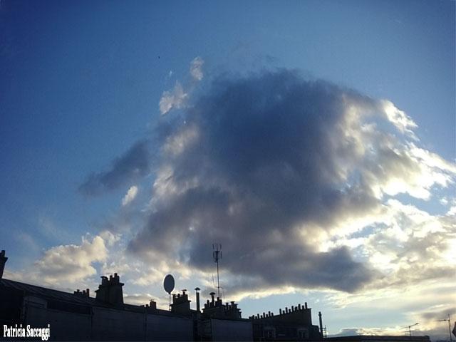 Photo, que j'ai prise du ciel. Paréidolie.
